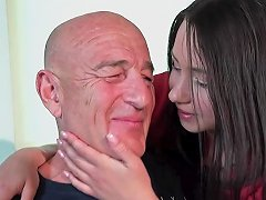 Old Man Fucks His Teen Wife On The Kitchen Table