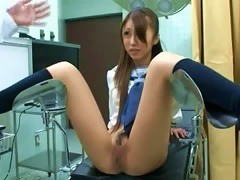 Japanese Teen Lets A Lewd Gynecologist Play With Her
